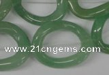 CFG267 15.5 inches 25*30mm carved oval green aventurine beads