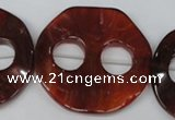 CFG281 15.5 inches 44mm carved coin red agate beads