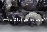 CFG343 15.5 inches 18*22mm carved skull dogtooth amethyst beads
