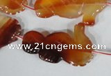 CFG519 15.5 inches 22*35mm carved animal red agate beads