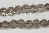 CFG60 15.5 inches 8*10mm carved pig-shaped smoky quartz beads