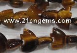 CFG767 15.5 inches 10*15mm carved animal yellow tiger eye beads