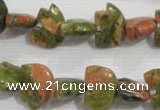 CFG770 15.5 inches 10*15mm carved animal unakite gemstone beads