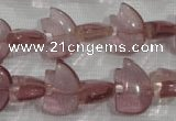 CFG786 15.5 inches 10*15mm carved animal quartz glass beads