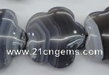 CFG947 15.5 inches 32*33mm carved flower grey botswana agate beads