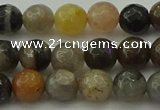 CFJ211 15.5 inches 6mm faceted round fancy jasper beads wholesale