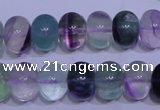CFL1070 15 inches 10*14mm rondelle natural fluorite gemstone beads