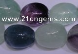 CFL1075 15 inches 18*22mm nuggets natural fluorite gemstone beads