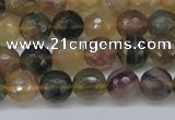 CFL1113 15.5 inches 10mm faceted round yellow fluorite gemstone beads