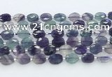 CFL1234 15.5 inches 8*10mm faceted oval fluorite beads