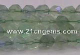 CFL1401 15.5 inches 6mm faceted nuggets green fluorite beads