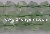 CFL1403 15.5 inches 10mm faceted nuggets green fluorite beads