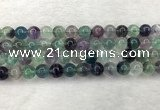 CFL1453 15.5 inches 10mm round fluorite beads wholesale