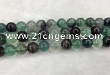 CFL1456 15.5 inches 16mm round fluorite beads wholesale