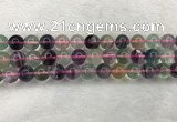 CFL1483 15.5 inches 10mm round rainbow fluorite gemstone beads