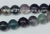 CFL152 15.5 inches 10mm round natural fluorite gemstone beads wholesale