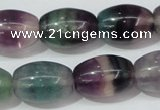 CFL159 15.5 inches 15*20mm rice natural fluorite gemstone beads