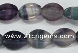 CFL160 15.5 inches 10*15mm twisted rice natural fluorite beads wholesale