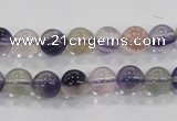 CFL202 15.5 inches 8mm round purple fluorite gemstone beads wholesale