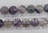 CFL203 15.5 inches 10mm round purple fluorite gemstone beads wholesale