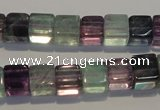 CFL489 15.5 inches 8*8mm cube natural fluorite beads