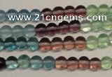 CFL551 15.5 inches 6mm round fluorite gemstone beads wholesale