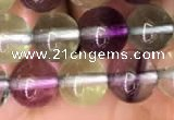 CFL587 15.5 inches 8mm round AAAAA grade fluorite gemstone beads