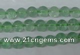 CFL602 15.5 inches 8mm round AB grade green fluorite beads wholesale