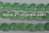CFL623 15.5 inches 10mm faceted round green fluorite beads wholesale
