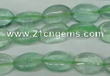CFL642 15.5 inches 10*14mm oval green fluorite beads wholesale