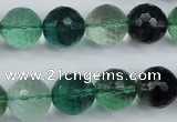 CFL65 15.5 inches 14mm faceted round A grade natural fluorite beads