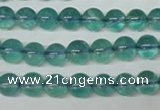 CFL662 15.5 inches 8mm round AB grade blue fluorite beads wholesale