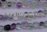 CFL721 15.5 inches 7*8mm nuggets natural fluorite beads wholesale