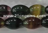 CFL815 15.5 inches 14*20mm rice rainbow fluorite gemstone beads