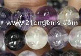 CFL912 15.5 inches 8mm round purple fluorite beads wholesale