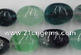 CFL953 15.5 inches 15*20mm nuggets natural fluorite beads wholesale