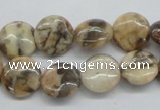 CFS07 15.5 inches 12mm flat round natural feldspar gemstone beads