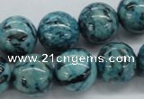CFS106 15.5 inches 16mm round blue feldspar gemstone beads