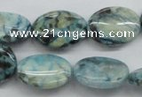 CFS112 15.5 inches 15*20mm oval blue feldspar gemstone beads