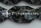 CFS331 15.5 inches 25*35mm faceted freeform feldspar gemstone beads