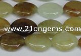 CFW135 15.5 inches 12*16mm marquise flower jade gemstone beads