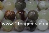 CFW14 15.5 inches 10mm round flower jade beads wholesale