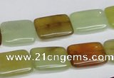 CFW149 15.5 inches 12*16mm rectangle flower jade gemstone beads