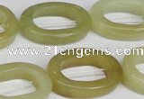 CFW169 15.5 inches 18*25mm oval flower jade gemstone beads