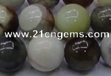 CFW18 15.5 inches 18mm round flower jade beads wholesale