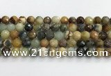 CFW220 15.5 inches 10mm faceted round flower jade beads