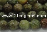 CGA148 15.5 inches 8mm faceted round natural green garnet beads
