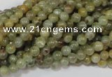 CGA201 15.5 inches 4mm round natural green garnet beads