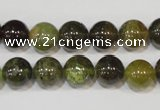 CGA204 15.5 inches 10mm round natural green garnet beads