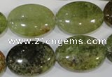 CGA225 15.5 inches 18*25mm oval natural green garnet beads